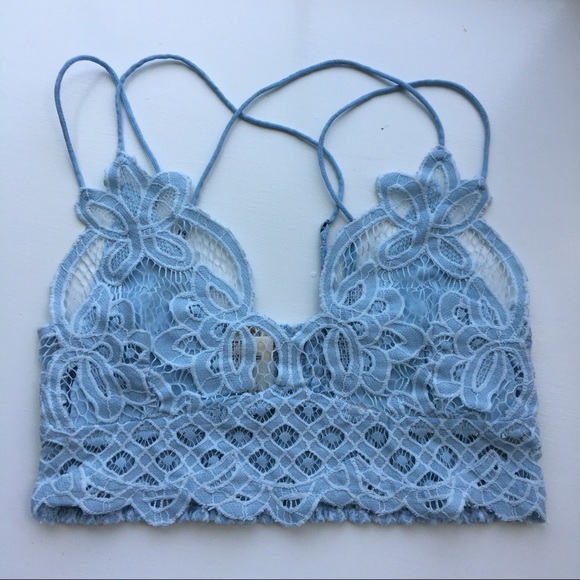 f76ffa7676 Free People Other - Intimately FP Adella Longline Bralette baby blue
